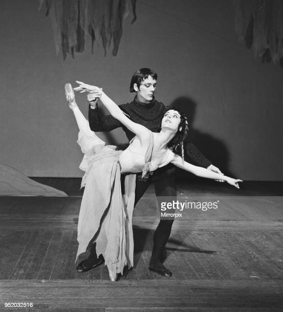 21 year old ballet dancers Georgina Parkinson on stage at the Royal Opera House in Covent Garden with Donald Macleary during rehearsals for the...
