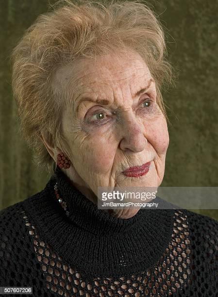 88 year old beautiful woman looking away