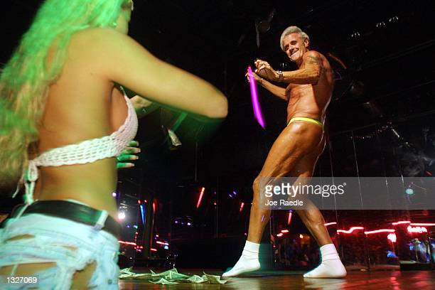 60 year old Bernie Barker competes July 16 2001 against other amateur strippers at Club LaBare a North Miami Beach FL ladies club Five years from a...