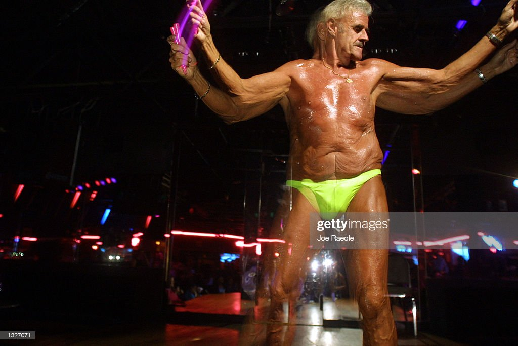 Old male stripper
