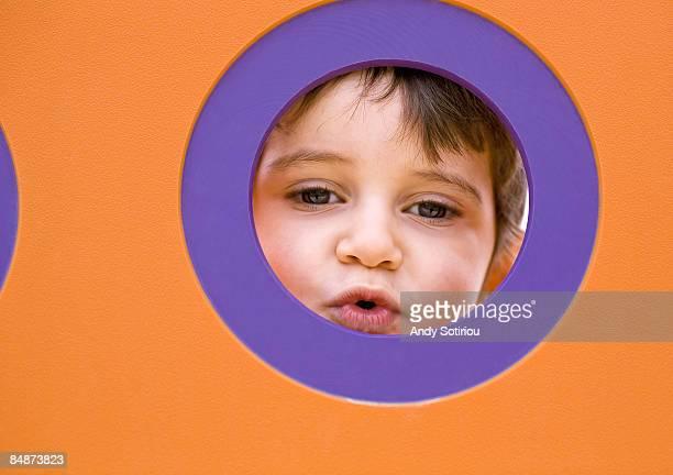 2 year old boy in playground