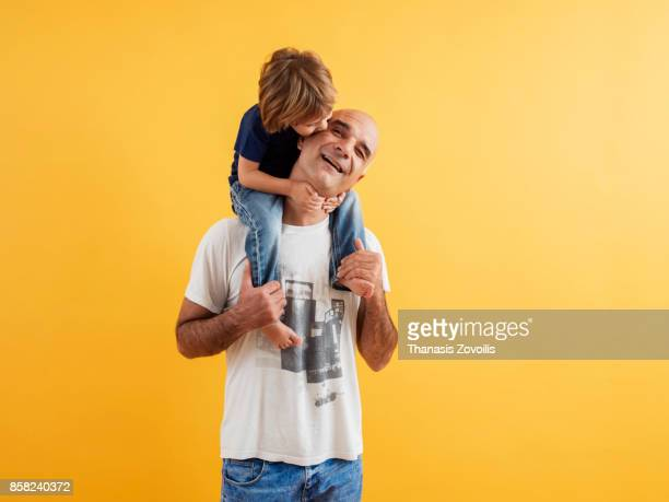 6 year old boy playing with his father