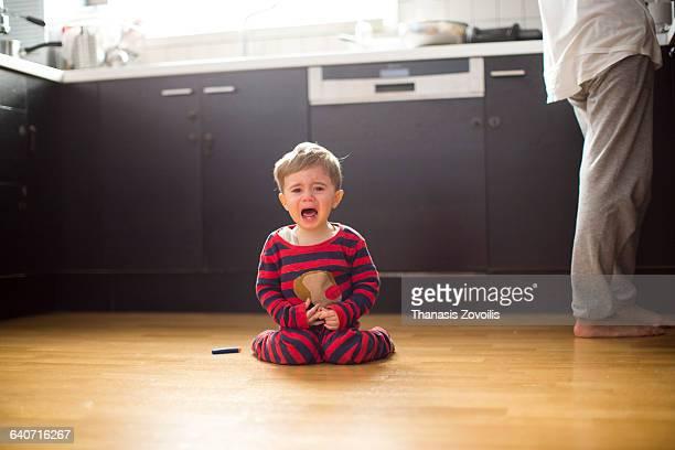 1 year old boy screaming