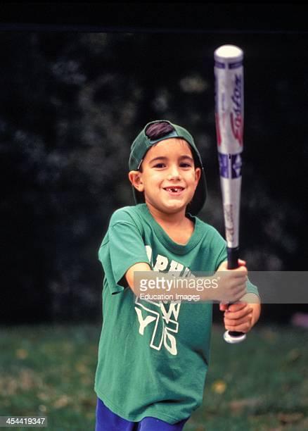 6 Year Old Boy Swinging Aluminum Baseball Bat
