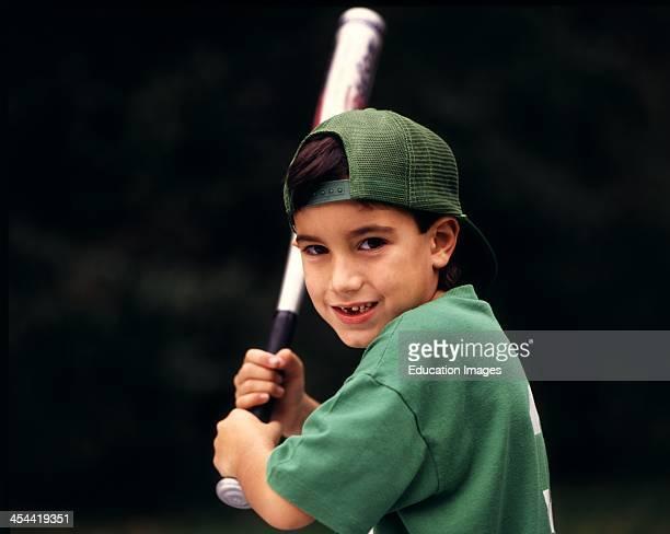 6 Year Old Boy With Aluminum Baseball Bat