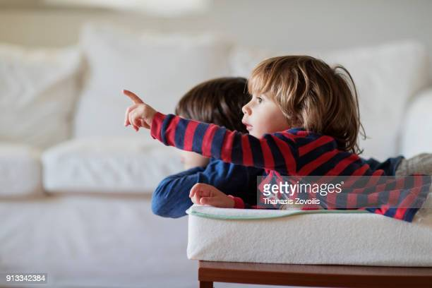 2 year old boy with his brother