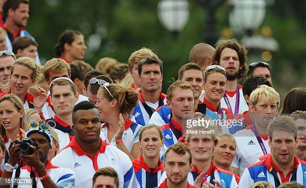 40 year old Bronze medal winning member of the Men's rowing eight Greg Searle is a face in the Team GB gathering during the Olympics Paralympics Team...