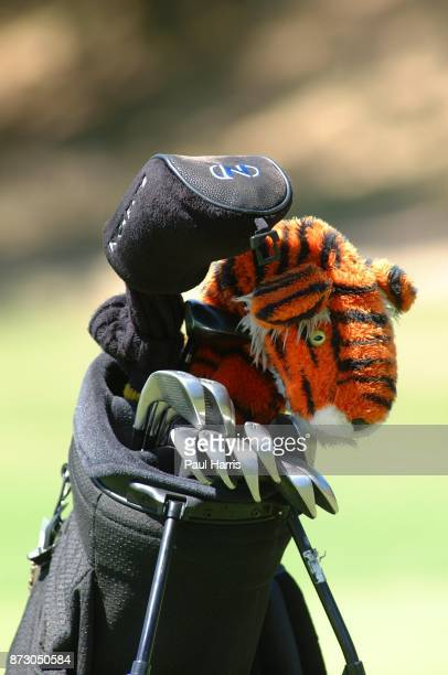 10 year old Cheyenne Woods golf bag she is the niece of Golfer Tiger Woods takes part in a junior golf tournament at The Singing Hills Resort on on...