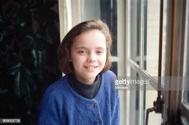 11 year old Christina Ricci junior star in the blockbuster movie 'The Addams Family' 9th December 1991