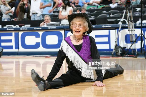 A 91 year old dancer performs during halftime in the game against the Dallas Mavericks on March 3 2008 at Energy Solutions Arena in Salt Lake City...