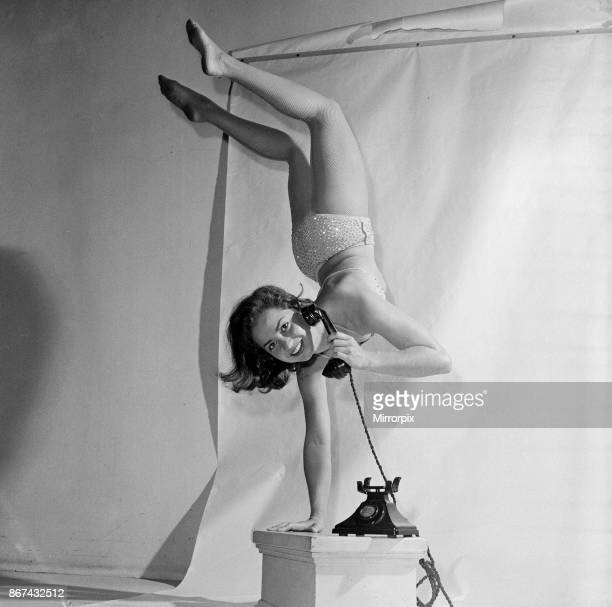 18 year old Eleanor Gunter is an equilibrist an acrobat who performs balancing feats Balancing on one hand using a telephone She's in the UK to...