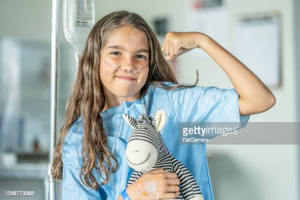 10 year old girl in hospital - cancer illness stock pictures, royalty-free photos & images
