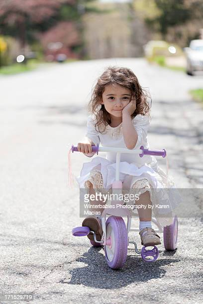 4 year old girl on a bike