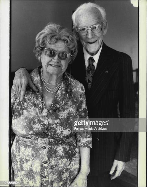 89 year old Gladesville couple Mr Clarence Mania Clark and his wife Mabel Evelyn Clark who will be married for 70 years on the 9th November this...