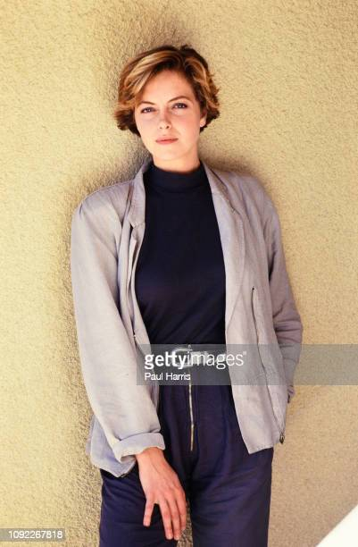 27 year old Greta Scacchi on the rooftop of the Mondrian Hotel during a publicity tour for the 1987 film White Mischief June 12 1987 Los Angeles...
