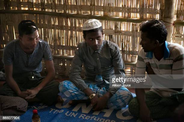 COX'S BAZAR BANGLADESH NOVEMBER 27 18 year old Hashimullah is seen during his marriage ceremony to 16 year old Farmina Begum on the day of their...