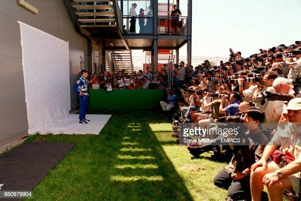 21 year old Kimi Raikkonen the most inexperienced driver ever to enter a Grand Prix faces the cameras ahead of his debut in Melbourne