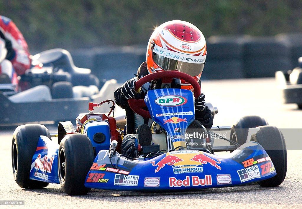 5 Year Old Leonardo Panayiotou At The Brentwood Kart Track