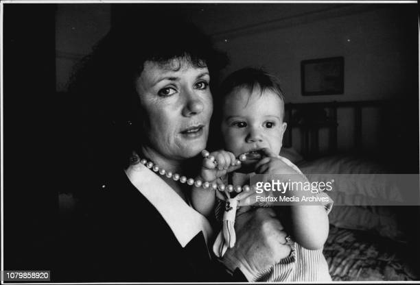 43 year old mother Mia Fisher and baby of 11 months Nicholas Callaway at their home in Drummoyne today For story on older women starting families...