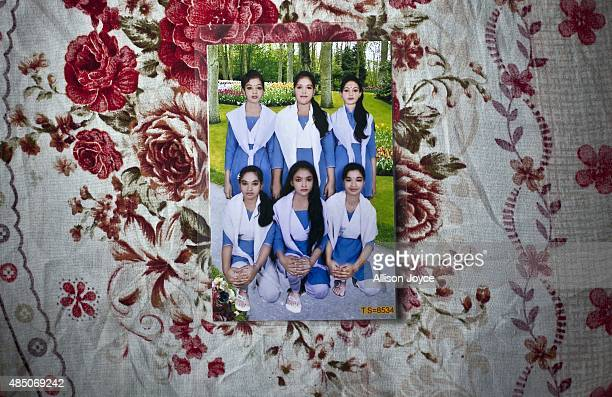 14 year old Mousammat Akhi Akhter is pictured in the top left hand corner of her 6th grade class photo August 19 2015 in Manikganj Bangladesh Last...