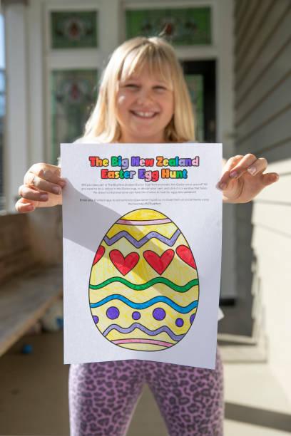 NZL: Children Take Part In The Big New Zealand Easter Egg Hunt During Coronavirus Lockdown