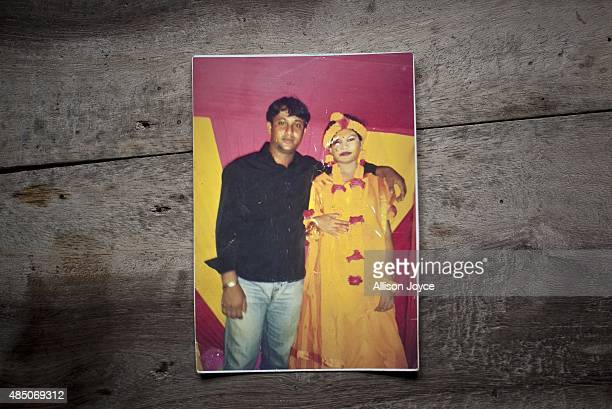 14 year old Shima Akhter is seen in a photograph with her uncle on the night of her holud ceremony August 19 2015 in Manikganj Bangladesh Last year...