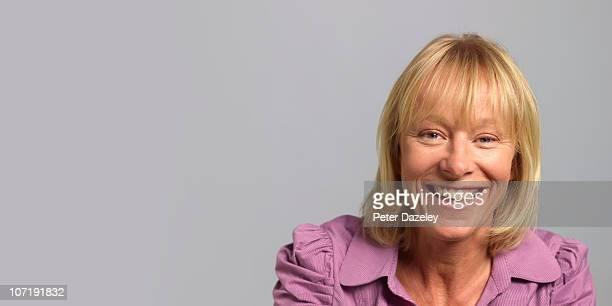 45 year old smiling woman