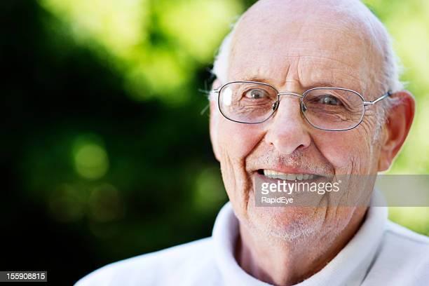 83 year old smilingly enjoying retirement