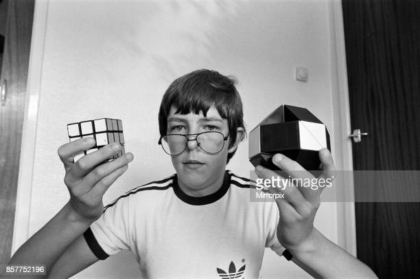 14 year old Terence Wilson of Deepdale near Preston with his Rubik cube and snake 28th August 1981