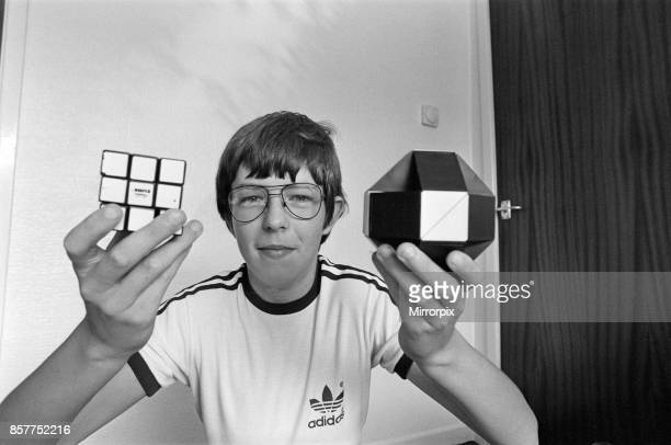 Year old Terence Wilson of Deepdale near Preston, with his Rubik cube and snake, 28th August 1981.
