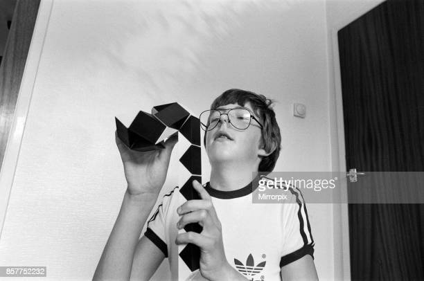 14 year old Terence Wilson of Deepdale near Preston with his Rubik snake 28th August 1981