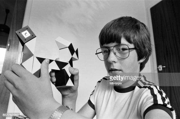 Year old Terence Wilson of Deepdale near Preston, with his Rubik snake, 28th August 1981.