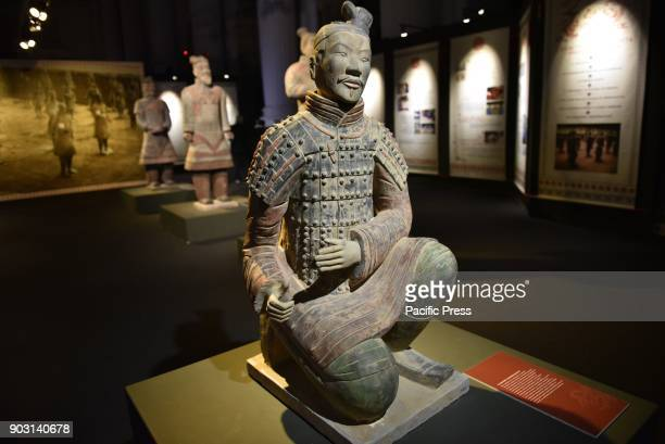 2000 year old terracotta warriors from China in the heart of Napoli 170 large terracotta warriors all lifesize are showed in Napoli in the nave of...