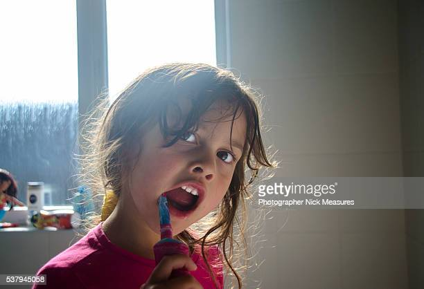 4 Year Old Toddler Cleaning Her Teeth