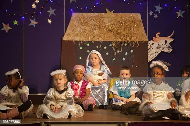 Year one pupils from Kingsmead School perform in their annual Christmas nativity play The school primarily serves children who live on the Kingsmead...