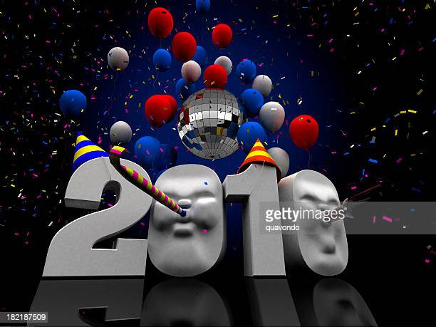 2010 New Years Illustration, Copy Space