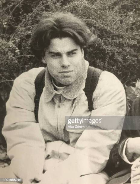 A 1996 yearbook photo of Tobias Rathjen who is suspected of killing 10 people and himself in Hanau Germany The picture was taken at Hohe Landesschule...