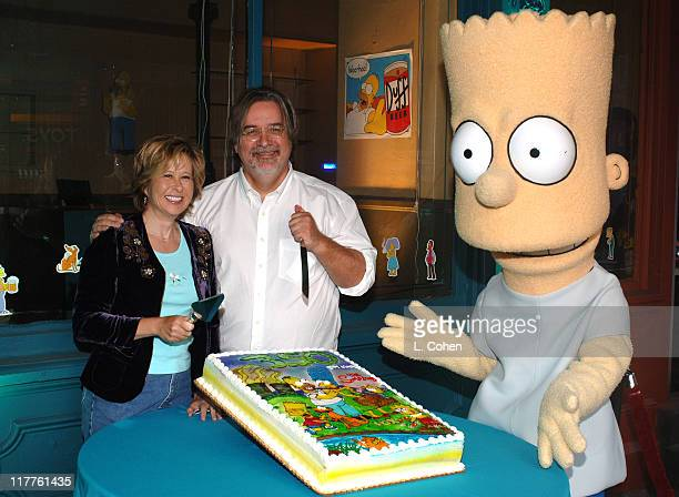 Yeardley Smith and Matt Groening with Bart Simpson