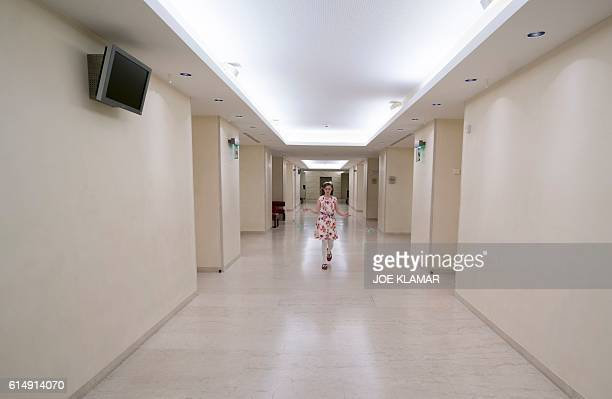 11 yearold Alma Deutscher plays with her skipping rope in a hallway of The Wiener Musikverein in Vienna on October 6 2016 The British 11yearold's...