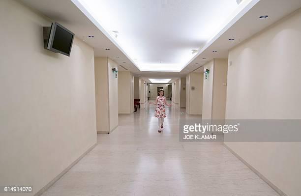 11 yearold Alma Deutscher plays with her skipping rope in a hallway of The Wiener Musikverein in Vienna on October 6 2016 The British 11yearold's...