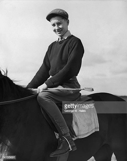 17 yearold English jockey Lester Piggott on Treize de Sept at George Beeby's stables at Compton Berkshire 24th March 1952