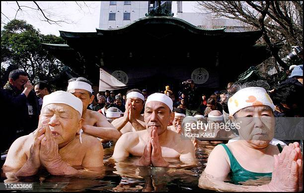 YearOld Japanese Man Bathes In Ice To Pray For A Happy New Year 2001 In Tokyo Japan On January 14 2001 Masamitsu Nakagawa