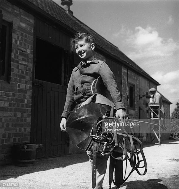 A 12 yearold Lester Piggott at work as a stable lad August 1948