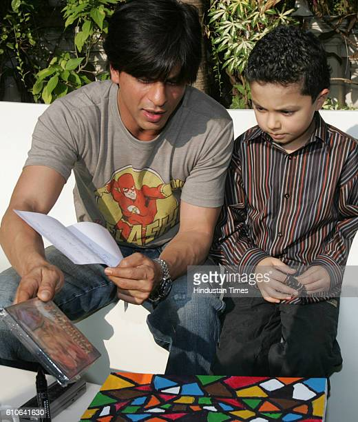 SRK 8 yearold Yusuf Noor who suffers from terminal leukaemia was granted his life's desire to meet Shahrukh Khan by the Make A Wish Foundation at the...