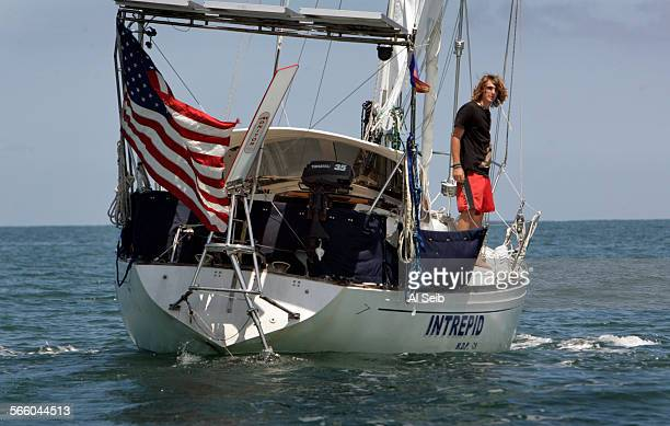 17–year–old Zac Sunderland sets sail aboard his 36–foot sailboat 'Intrepid' from Puerto Vallarta Mexico on June 25 2009 Zac sought shelter in the...