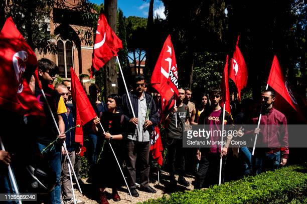 82 years after the death of Antonio Gramsci the people of the Italian left paid tribute to the tomb of Antonio Gramsci sited in the third area of the...