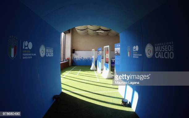 Head coach of Italy Roberto Mancini during FIGC 120 Years Exhibition on June 19 2018 in Matera Italy