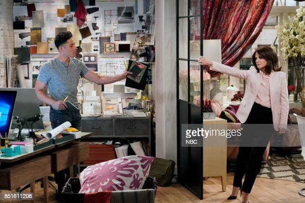 WILL GRACE '11 Years Later' Episode 101 Pictured Anthony Ramos as Tony Megan Mullally as Karen Walker