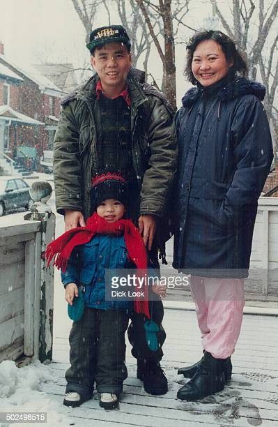 24 years later Kim Phuc husband Huy Toan and son Huy Hoang outside their Toronto home She was the little girl burned by napalm seen running and...