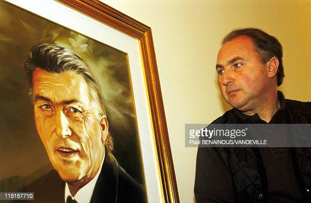 50 years of Lamborghini in Italy in March 1998 Tonino with the portrait of his father Ferrucio